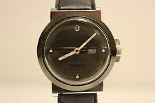 "VINTAGE USSR RUSSIA RARE MODEL HAND WIND UP WATCH ""RAKETA""/DATE ON 12 O'CLOCK"