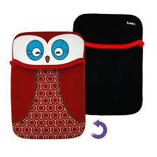 Red Owl Reversible Sleeve Case Cover Pouch for Kobo Touch eReader