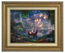 RAPUNZEL TANGLED - Thomas Kinkade Canvas Classic (Gold Frame)