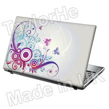 "15,6 ""Laptop Skin Sticker Decal Flor Mariposas 285"