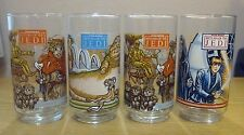 Four 1983 Burger King Coca Cola Return of the Jedi Drinking Glasses