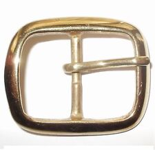 "SOLID CAST BRASS FULL BELT BUCKLE 1 1/4"" INCH - 32MM"