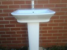 EX DISPLAY Roca 'GAP' 60cm Basin and pedestal with Tap