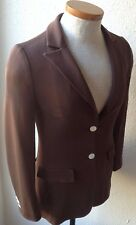 AUTHENTIC DOLCE & GABBANA, WOMEN'S MADE IN ITALY 'BROWN BLAZER/JACKET SZ 40