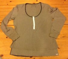 NWT $145 Women's Converse John Varvatos Olive Green Long Sleeve Knit Top Size L