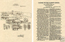 BROWNING AUTOMATIC RIFLE Patent Art Print READY TO FRAME!!! US BAR 1917 John