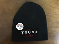 Trump 2016 EMBROIDERED Republican Uncuffed Beanie CAP HAT Donald Trump FREE PIN