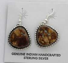 Navajo Indian Earrings Royston Boulder Turquoise Dangles Sterling Silver Scott S