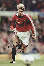 DAVID BECKHAM Signed 12x8 Photo MANCHESTER UTD Legend COA
