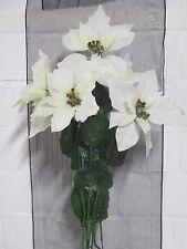 Weihnachten Deko 6 Christsterne weiß künstlich Seidenblumen Floristik wie echt