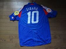 France #10 Zidane 100% Original Soccer Football Jersey Shirt EURO 2004 Home
