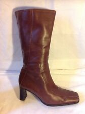 Shape By Ecco Brown Mid Calf Leather Boots Size 4