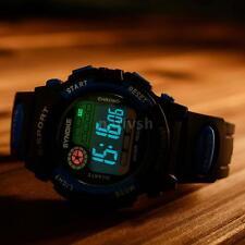 SYNOKE Rubber LED Night-light Digital Waterproof Sports Kids Boy Wrist Watch