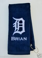 Personalized Embroidered Golf Bowling Workout Towel Detroit Tigers Logo