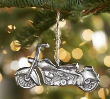 NWT Pottery Barn Christmas Travel Metal Motorcycle Old Fashion Bike Ornament