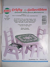 Dollhouse Cross Stitch Miniatures Table & Chair Needle Magic Kit 1:12 Scale