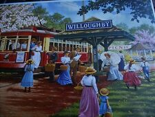 "New 300 Piece John Sloane Art Puzzle""Trolley Picnic"" Large Format 18""x24"""