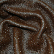 30 SF Brown Perforated Upholstery Leather Cow Hide Skin Piece X31D