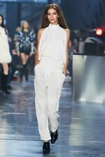 H&M Studio Collection Off White Satin Trousers Pants UK 12 EUR 38