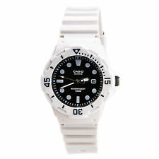 Casio LRW200H-1E Ladies 100M Divers Sports Watch Analog 100M White W/ Black Dial