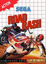 A4 Sega Master System Game Poster – Road Rash (Picture Print Gaming Retro Art)