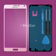 Pink Front Screen Glass Lens Replacement for Samsung Galaxy Note 4 SM-N910