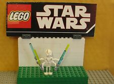 "STAR WARS LEGO LOT  MINIFIGURE--MINI FIG--""  GENERAL GRIEVOUS W/ LIGHT SABERS """