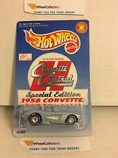 1958 Corvette * Corvette Central * w/ Real Riders * Hot Wheels * W5
