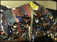 500 PCS HUGE BULK LOT DESIGNER RETAIL WEAR QUILTING NECKTIES TIE 50 POUNDS BOX