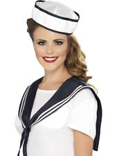 Ladies Fancy Dress Instant Sailor Kit Hat & Shoulder Scarf Set New by Smiffys