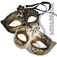 Venezianische Augenmaske Maske venezianisch Kostümzubehör Fasching schwarz weiss