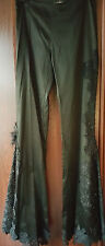 Stunning Celo Black Bead Lace Flair Leg Craft Pants Feels XS Worn Only Once