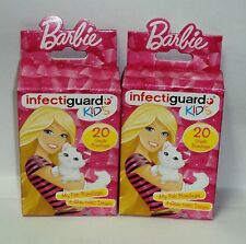 2 Boxs Of BARBIE Infectiguard Kids Bandages 4 Glam-Tastic Designs 40 3/4in X 3in