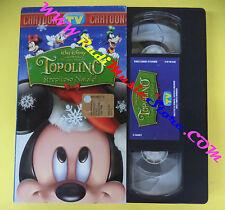 VHS film cartonata TOPOLINO Strepitoso natale TV SORRISI E CANZONI (F97) no dvd