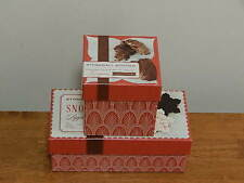 Empty STONEWALL KITCHEN Paper Gift Boxes Printed Chocolate Peppermint Bark Candy