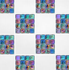 "4"" x 4"" Rainbow Mosaic Self Adhesive Tile Transfer Stickers Bathroom Kitchen"