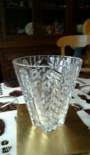Cut Glass Heavy Lead Crystal Vase kept in display cabinet