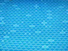 "Pure Wool. Retro ""Bubbles"" Pattern Upholstery Fabric - Fire Retardent"