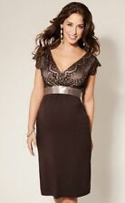 NEW Tiffany Rose Mocha DRESS. Size 2 / UK 10-12. RRP £159