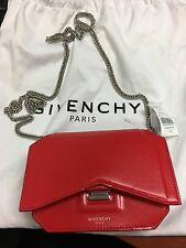 Givenchy Bow Cut Chain Wallet BNWT Red