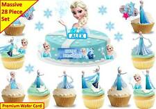 ELSA FROZEN Cup Cake Scene Topper Wafer Edible Birthday STAND UP CUSTOM