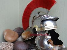 ANCIENT ROMAN CENTURION ARMOR IMPERIAL HELMET WITH INNER LINER & RED PLUME PROP