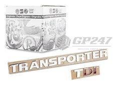 ORIGINAL VOLKSWAGEN VW TRANSPORTER T5 T6 SCHRIFTZUG EMBLEM + TDI chrom rot logo