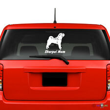 Sharpei Mom Windshield Sticker Vinyl Auto Window v2 shar pei shar-pei