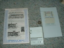 Microscale decals N 60-45 Great Northern diesel cabs or. gr. yell lett  D55