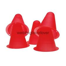 5Pcs PVC Bright-colored Slalom Cones Field Drill Markers Skating - Red