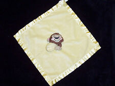 Fisher Price Yellow Monkey Baby Blanket Precious Plant Satin Security Lovey