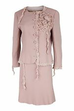 *MOSCHINO CHEAP & CHIC* PINK ROSETTE SKIRT SUIT (14)