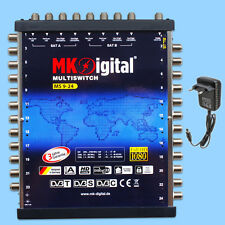 MK-Digital MS 9-24 Multischalter 9/24 Sat Verteiler Multiswitch Full HDTV Sky TV