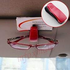 Car Vehicle Sun Visor Eyeglasses Glasses Card Ticket Holder Clip Accessories Red